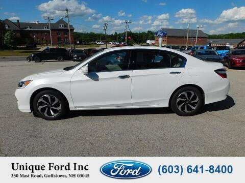 2017 Honda Accord for sale at Unique Motors of Chicopee - Unique Ford in Goffstown NH