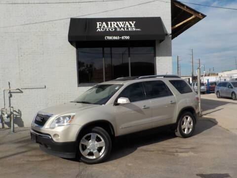 2008 GMC Acadia for sale at FAIRWAY AUTO SALES, INC. in Melrose Park IL