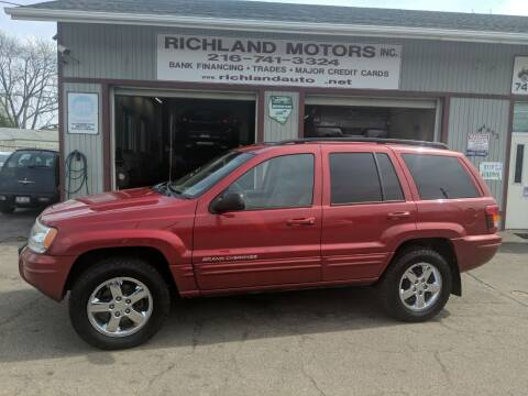 2004 Jeep Grand Cherokee for sale at Richland Motors in Cleveland OH