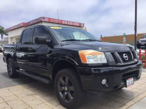 2012 Nissan Titan for sale at CARCO SALES & FINANCE in Chula Vista CA