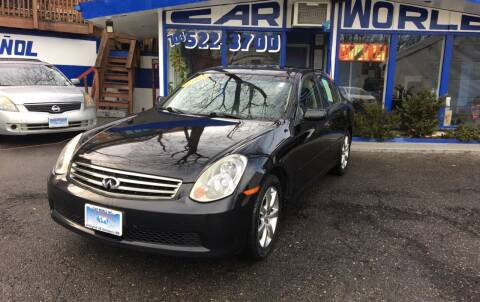 2005 Infiniti G35 for sale at Car World Inc in Arlington VA