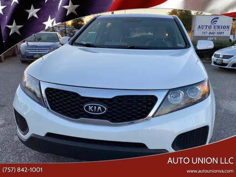 2013 Kia Sorento for sale at Auto Union LLC in Virginia Beach VA