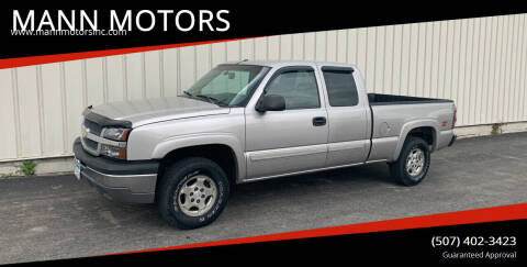 2004 Chevrolet Silverado 1500 for sale at MANN MOTORS in Albert Lea MN