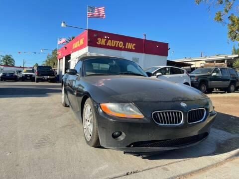 2003 BMW Z4 for sale at 3K Auto in Escondido CA
