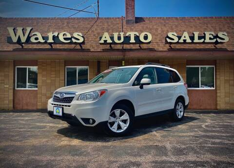 2016 Subaru Forester for sale at Wares Auto Sales INC in Traverse City MI