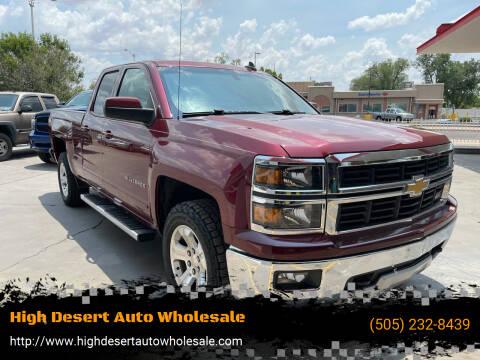 2015 Chevrolet Silverado 1500 for sale at High Desert Auto Wholesale in Albuquerque NM