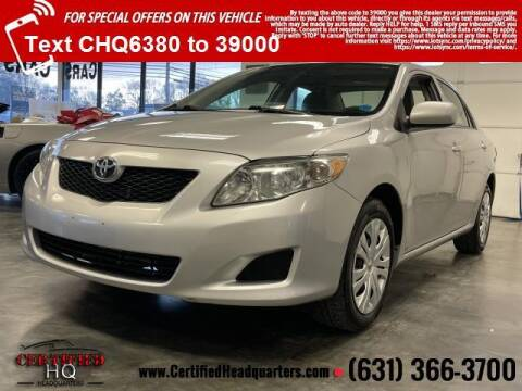 2010 Toyota Corolla for sale at CERTIFIED HEADQUARTERS in St James NY