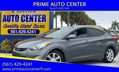 2012 Hyundai Elantra for sale at PRIME AUTO CENTER in Palm Springs FL