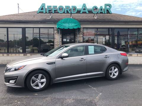 2015 Kia Optima for sale at Afford-A-Car in Dayton/Newcarlisle/Springfield OH