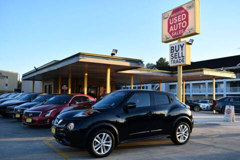 2016 Nissan JUKE for sale at Houston Used Auto Sales in Houston TX