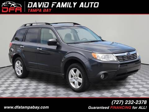 2009 Subaru Forester for sale at David Family Auto in New Port Richey FL