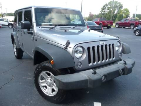 2015 Jeep Wrangler Unlimited for sale at Wade Hampton Auto Mart in Greer SC