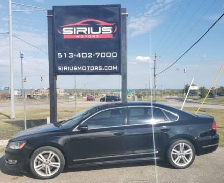 2013 Volkswagen Passat for sale at SIRIUS MOTORS INC in Monroe OH