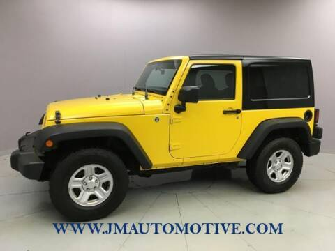 2015 Jeep Wrangler for sale at J & M Automotive in Naugatuck CT