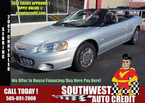 2002 Chrysler Sebring for sale at SOUTHWEST AUTO in Albuquerque NM