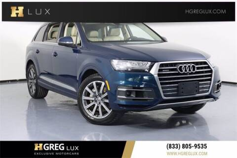 2018 Audi Q7 for sale at HGREG LUX EXCLUSIVE MOTORCARS in Pompano Beach FL