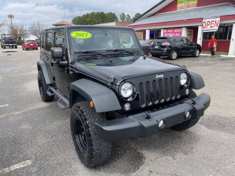 2015 Jeep Wrangler Unlimited for sale at Sell Your Car Today in Fayetteville NC