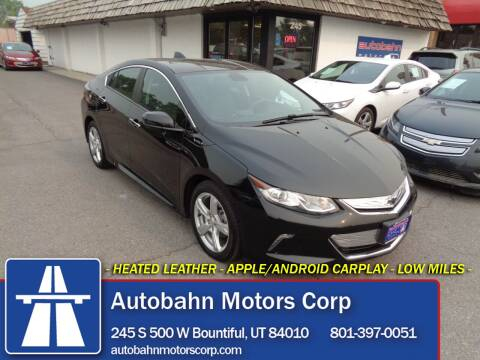 2018 Chevrolet Volt for sale at Autobahn Motors Corp in Bountiful UT