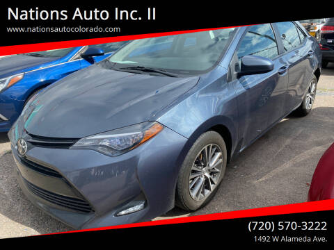 2017 Toyota Corolla for sale at Nations Auto Inc. II in Denver CO