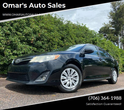 2013 Toyota Camry for sale at Omar's Auto Sales in Martinez GA