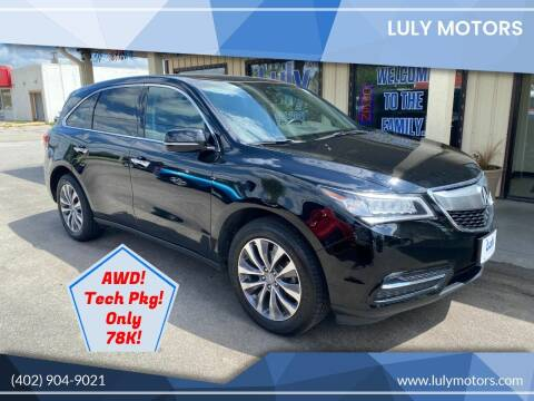 2014 Acura MDX for sale at Luly Motors in Lincoln NE