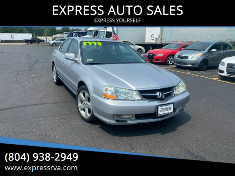 2002 Acura TL for sale at EXPRESS AUTO SALES in Midlothian VA