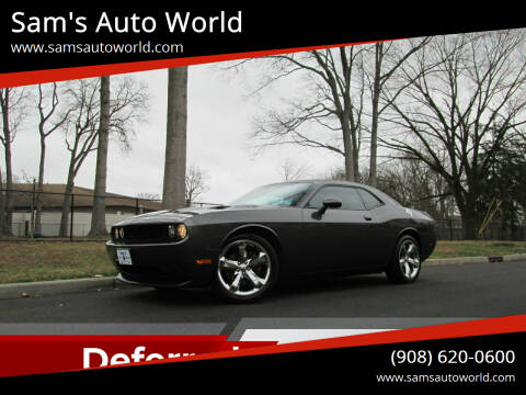 2013 Dodge Challenger for sale at Sam's Auto World in Roselle NJ