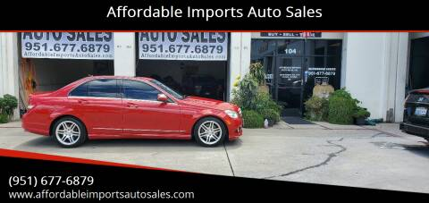 2008 Mercedes-Benz C-Class for sale at Affordable Imports Auto Sales in Murrieta CA