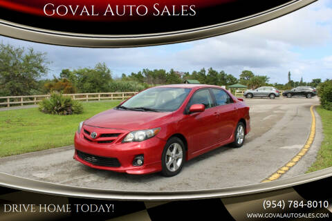 2012 Toyota Corolla for sale at Goval Auto Sales in Pompano Beach FL