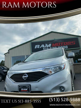 2012 Nissan Quest for sale at RAM MOTORS in Cincinnati OH