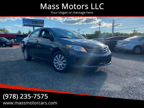 2013 Toyota Corolla for sale at Mass Motors LLC in Worcester MA