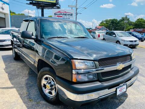 2003 Chevrolet Silverado 1500 for sale at Supreme Auto Sales in Chesapeake VA