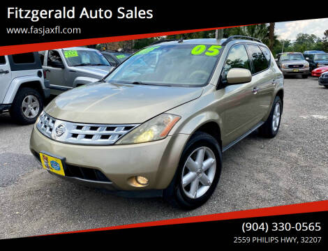 2005 Nissan Murano for sale at Fitzgerald Auto Sales in Jacksonville FL
