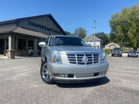 2013 Cadillac Escalade ESV for sale at Drapers Auto Sales in Peru IN