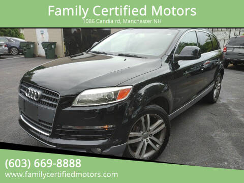 2009 Audi Q7 for sale at Family Certified Motors in Manchester NH