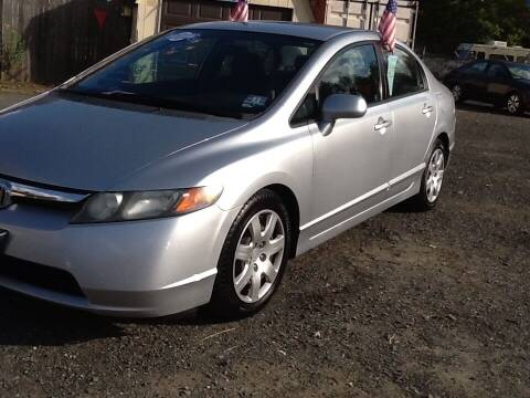2008 Honda Civic for sale at Lance Motors in Monroe Township NJ