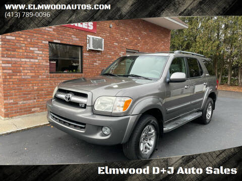 2006 Toyota Sequoia for sale at Elmwood D+J Auto Sales in Agawam MA