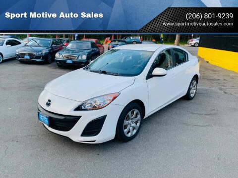 2010 Mazda MAZDA3 for sale at Sport Motive Auto Sales in Seattle WA