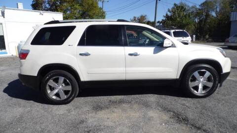 2012 GMC Acadia for sale at G AND J MOTORS in Elkin NC