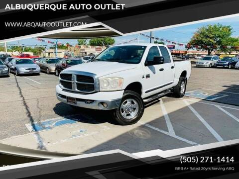 2007 Dodge Ram Pickup 2500 for sale at ALBUQUERQUE AUTO OUTLET in Albuquerque NM