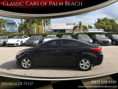 2013 Hyundai Elantra for sale at Classic Cars of Palm Beach in Jupiter FL