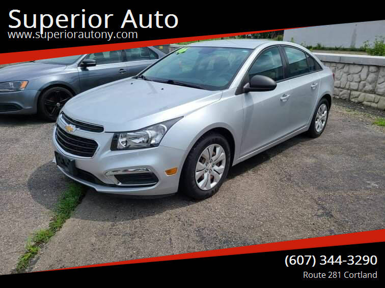 2016 Chevrolet Cruze Limited for sale at Superior Auto in Cortland NY