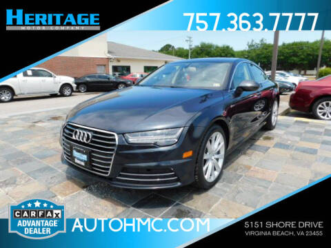2016 Audi A7 for sale at Heritage Motor Company in Virginia Beach VA