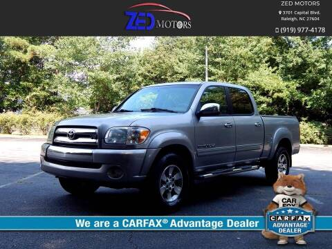2006 Toyota Tundra for sale at Zed Motors in Raleigh NC
