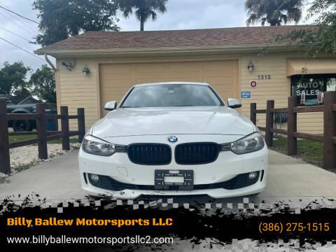 2014 BMW 3 Series for sale at Billy Ballew Motorsports LLC in Daytona Beach FL