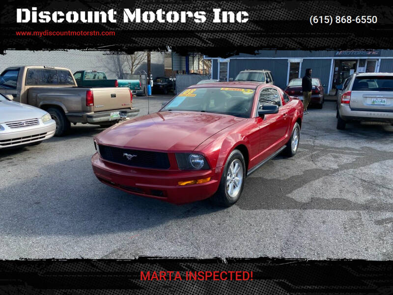 2008 Ford Mustang for sale at Discount Motors Inc in Madison TN