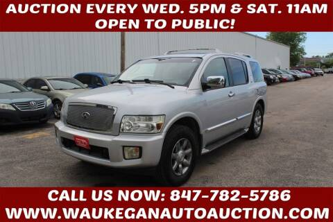 2004 Infiniti QX56 for sale at Waukegan Auto Auction in Waukegan IL