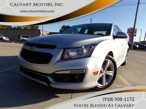 2015 Chevrolet Cruze for sale at Calvary Motors, Inc. in Bixby OK