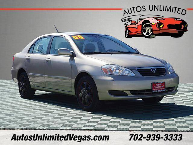 2008 Toyota Corolla for sale at Autos Unlimited in Las Vegas NV
