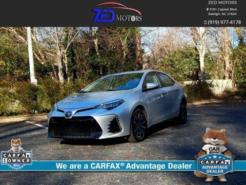 2017 Toyota Corolla for sale at Zed Motors in Raleigh NC